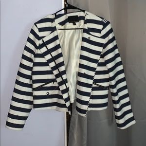 Blue and White Stripped Blazer/Jacket